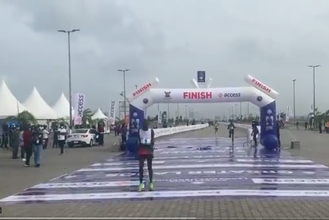 BREAKING: Emmanuel Naibei of Kenya Wins 2021 #AccessBankLagosCityMarathon [VIDEO] - #ABLCM2021