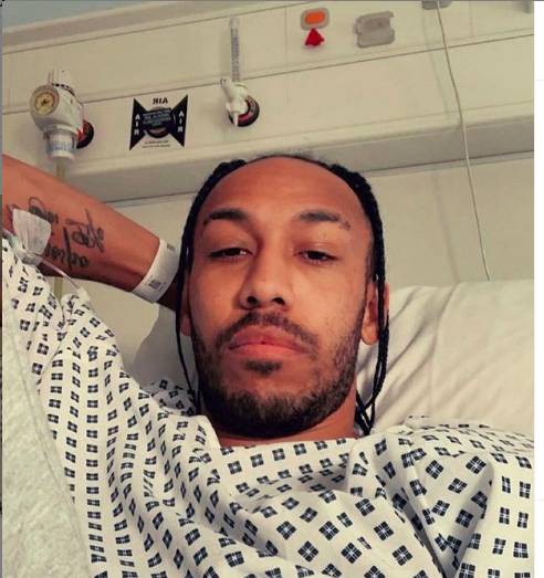 BREAKING: Arsenal Captain, Pierre Aubameyang Is Sick [PHOTO]